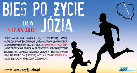 """Organizatorzy """"Biegu po Życie dla Józia"""" zwrócili się z prośbą o przekazanie informacji o wydarzeniu: Bezinteresownie Biegnie z Bieszczad nad morze dla chorego Józia. 4 kwietnia 2015 r.w godzinach 15:00 […]"""