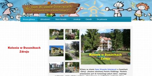 Miejsce zakwaterowania: Dom Wczasów Dziecięcych w Dusznikach Zdroju: http://www.dwd-duszniki.pl/index.php;   https://www.youtube.com/watch?v=bIqanz1wOEI