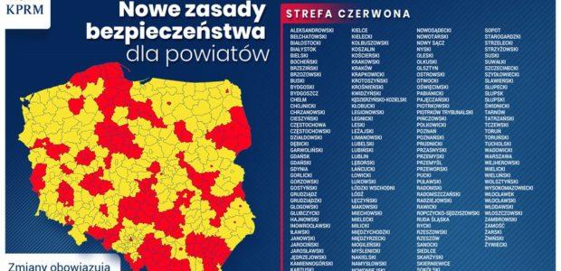 Czerwona strefa w Powiecie Kolbuszowskim od 17.10. 2020 r (sobota). Jest nowa lista 152 powiatów, w tym cały powiat kolbuszowski. W woj. podkarpackim powiaty: brzozowski, dębicki, jarosławski, kolbuszowski, leżajski, łańcucki, […]